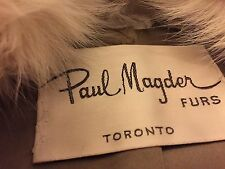 Mint young Full length Cream white Platinium Blush Mink & Blush Fox Fur Coat M