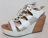 GEOX Keilabsatz Sandalen PUMPS HIGH HEELS Schuhe LEDER 38 UK5 WEDGES Sandaletten