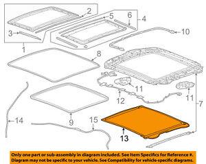 Chevrolet GM OEM 14-16 Impala Sunroof Sun Roof-Sunshade Shade Cover 23133735