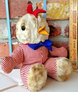 Vintage Americana Baby Chicken Character - A Red, White, & Blue Gund Toy Chick!