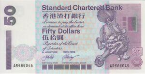 Hong Kong Banknote P286c 50 Dollars SCB 1.1.2002