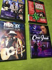 4 lot DVD  Kenny Chesney,Trace Adkins Travis Tritt,Chris Isaak Live & Christmas