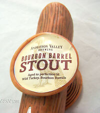 Anderson Valley Brewing BOURBON BARREL STOUT Beer Boonville, CA Tap Handle   #38