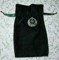 Tarot Rune Gift Bag Celtic Shamrock Charm Green Velvet