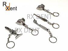 Dental Instruments Key Chain Impression Tray Tooth Brush Dental Syringe Elevator