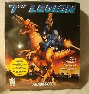7th LEGION MicroProse Big Box PC 1997 CD-ROM w/User Guide RARE New Sealed