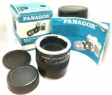 BOXED PANAGOR AUTO MACRO CONVERTER FOR 50MM 1:1 Contax/Yashica Fit Caps, Case.