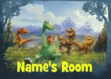 GOOD DINOSAUR PERSONALISED DOOR PLAQUE - 3 TYPES ACRYLIC/LAMINATE/WOODEN