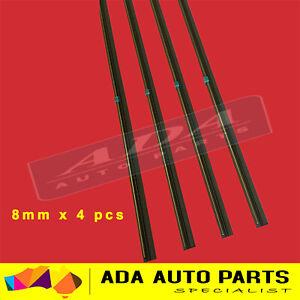 """4 x Premium Wiper Blade Inserts Refills 8mm 28"""" Twin Rail Metal Back"""