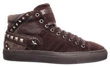 Para hombres zapatos zapatillas de alta Richmond 1510B Crosta Spagnolo Saloon Ante Marrón Tachas