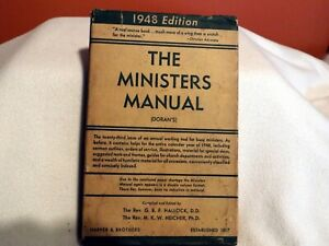 The Ministers Manual (Doran's) - 1948