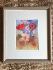 Watercolour Painting Of Red Poppies By Julie Larsen