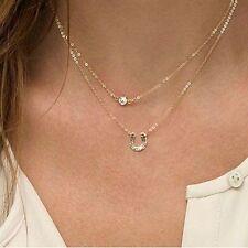 Markenlose runde Modeschmuck-Halsketten & -Anhänger aus Strass