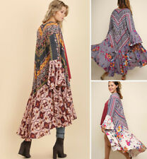 UMGEE Maxi Kimono Cardigan Duster Open Front Boho Bell Sleeve Flowy Long Jacket