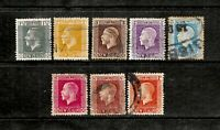 1915 New Zealand, King George V Recess, Set of 8 Stamps, FU