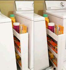 Slideout Storage Tower Organizer Slide Out Slim Narrow Space Laundry Kitchen NEW