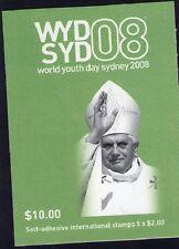 2008 WYDSYD 08 INTERNATIONAL AUSTRALIAN STAMP BOOKLET WORLD YOUTH DAY 5 x $2 MUH