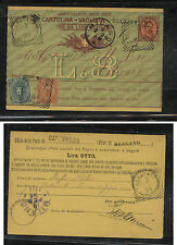 Italy  uprated  postal  card  1894        MS0305