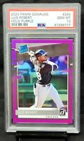 2020 Donruss HOLO Purple White Sox LUIS ROBERT Rookie Card PSA 10 GEM Pop 4