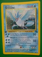Pokemon Fossil 1st Edition Articuno Holo Foil 2/62 Fossil WOTC - Clean Nice Cond