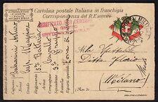 POSTA MILITARE 1917 Franchigia da PM 97 a Milano (FM3)