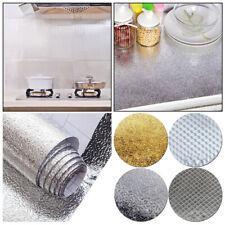 Kitchen Cabinet Oil-proof Aluminum Foil Wall Sticker Self Adhesive Wallpaper US*