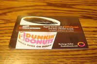 DUNKIN DONUTS DDPERKS GIFT CARD NO VALUE-Never Used or Activated  2011
