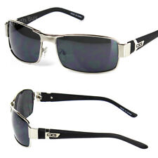 DG Eyewear Mens Rectangular Sunglasses Fashion Designer Wrap Around Black Retro