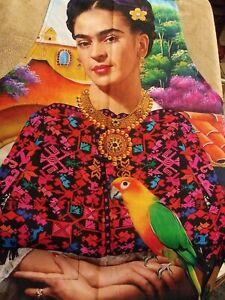 FRIDA KHALO MEXICAN APRON  ONE SIZE- NEW-MANDIL MEXICANO FRIDA KHALO
