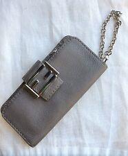 FENDI SPECIAL EDITION SALLERIA Leather Gray Wallet