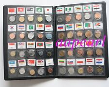 60 countries Regions Coins with flag real Coins moneyCollections book album