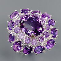 Amethyst Ring Silver 925 Sterling Vintage10ct+ Size 8 /R141368