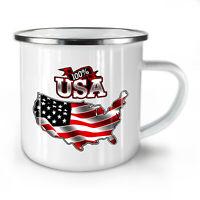 American Flag NEW Enamel Tea Mug 10 oz | Wellcoda