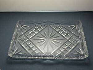 CUT GLASS CRYSTAL SERVING TRAY/DISH