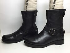 VTG  WOMENS FRYE ENGINEER BLACK BOOTS SIZE 11 B