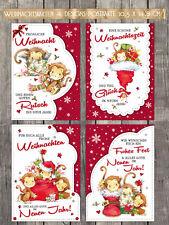 8 süße Weihnachtskarten, Postkarten,  Nostalgie, 10,5 x 14,8 cm