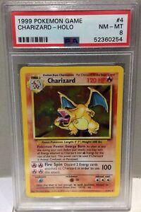 1999 Pokemon Game Base Set No4 Charizard  - PSA8 Near Mint / Mint