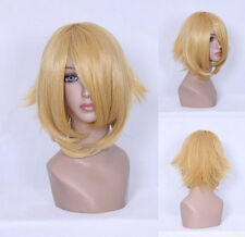 Dunkelblonde glatte Perücken & Haarteile mit mittlerer Länge Echthaar-Kunst