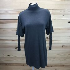Lou & Grey Tunic Shirt XS Gray Long Ribbed Sleeve Stretch Fleece Lining Top B76