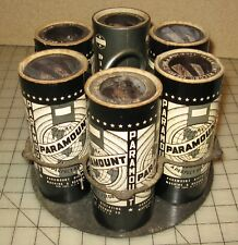 5 Early 1900's PARAMOUNT DICTATING MACHINE & RECORD CO Cylinders w/Holder RARE!