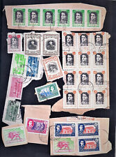 1948-1950 Middle East Stamps On Piece High Values/Multiples As Per Scan Lot JN06