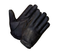 Men's Deerskin Leather Unlined Short Wristed Police Glove
