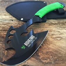 "12"" Zombie BIOHAZARD Throwing Axe Tactical Hunting Hatchet Survival Knife y"