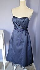PRINCIPLES Navy BLUE SWEETHEART Vintage Layered PROM Party MIDI Dress UK size 10