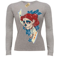 Beautiful pain la muerte day of the dead skull T-Shirt ladies long sleeve