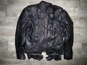 Harley Davidson Motorcycle FXRG Biker Women's Leather Jacket Coat Size Large