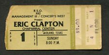1979 Eric Clapton Muddy Waters Concert Ticket Stub Midland Tx Backless Promises