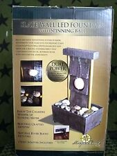 New Slate Brick Wall LED Fountain with Spinning Ball by Newport Coast