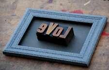 LOVE Collage Letternbild Holzlettern Holzbuchstaben Unikat!! Druckbuchstaben