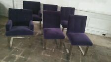 Vintage Paul Evans dining chairs Upholstered in purple mohair